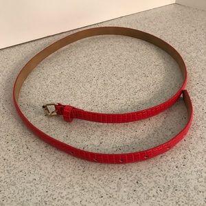 Ann Taylor Accessories - Red moc croc skinny belt by Ann Taylor size M